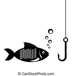 fish and fishing hook