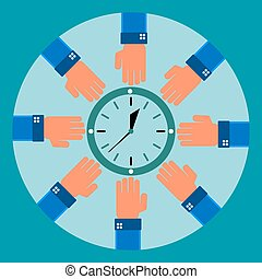 Eight arms to reach for the clock. Savings, time constraints, work schedule