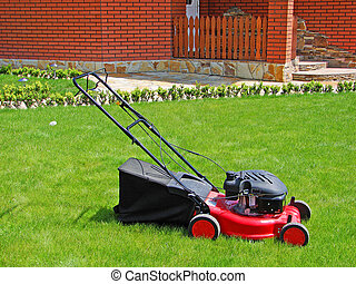 Lawn mower - Lawn mower in the grass...