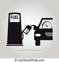 Fuel pump symbol, icon illustration