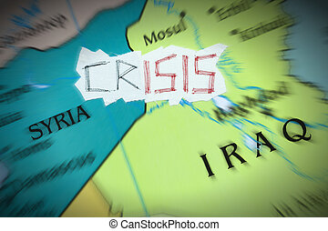 Crisis caused by the Islamic State - Conceptual...