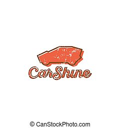 Logo car style trend overlay, scratched shine effect icon...