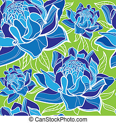 pattern with colorful flowers - Seamless vector floral...