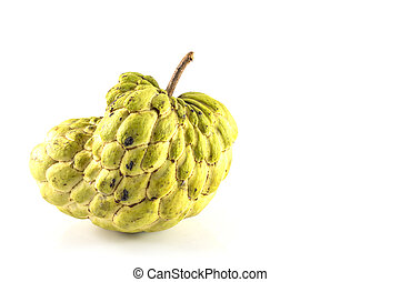 Sugar Apple custard apple, Annona, sweetsop,Cherimoya fruit...