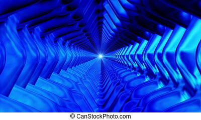 Broadcast Endless Hi-Tech Tunnel, Blue, Abstract, Loopable,...
