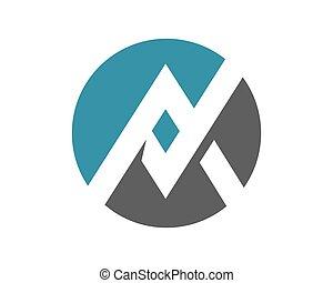 AV, A Letter Logo Template