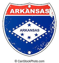 Arkansas Interstate Sign - Arkansas interstate sign with...