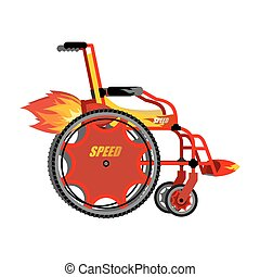 High-speed wheelchair. Chair for disabled with Turbo...
