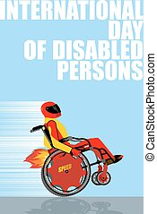 International Day of Persons with Disabilities Man on...