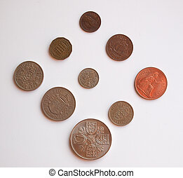 pre-decimal GBP coins full series - circulating in the UK...