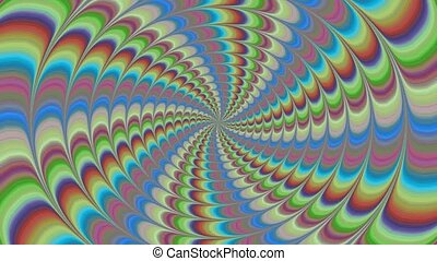 Colorful Spiral Full Hd Video