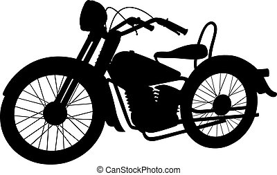Shadow motorcycle - Vector illustration of a motorcycle, EPS...