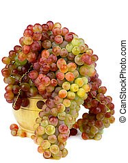 Sultana Grape - Perfect Ripe Pink Sultana Grape in Wooden...