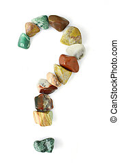Polished Stones Question Mark - A question mark formed of...