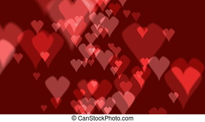 heart background - valentines heart red background
