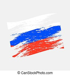 color Russia national flag grunge style eps10
