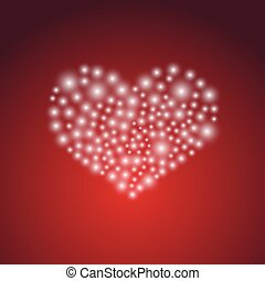 heart symbol from little lights for love and valentine eps10