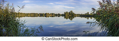 Panoramic image of a lake