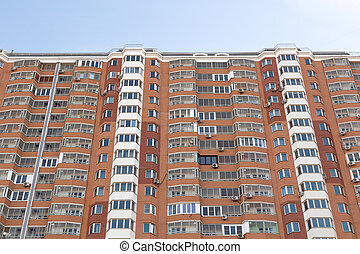 Modern multistory residential buildings in sunny day