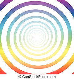 Spiral Tunnel Colorful White Light - Spiral tunnel, rainbow...