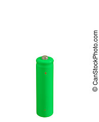 Rechargeable battery - Rechargeable green small battery with...