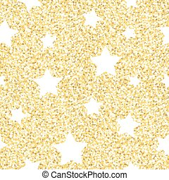 New Year seamless gometric pattern with golden glitter...
