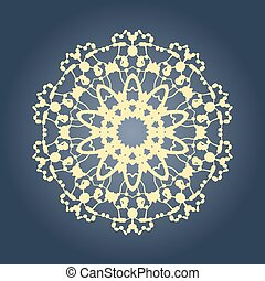 Circular mandala pattern fractal graphic carpet with a gradient