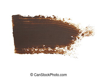 brown brush strokes oil paint - photo brown grunge brush...