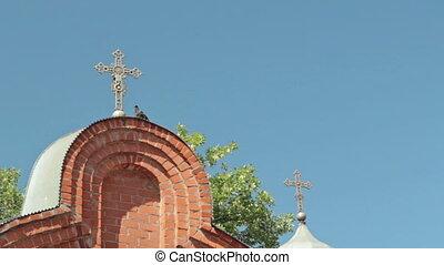 Gate to Spaso-Preobrazhensky Cathedral in the city of Nizhny...