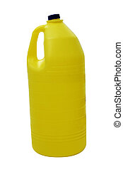 bottle of bleach - a bottle of bleach isolated on a white...
