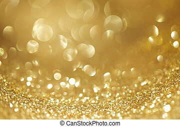 Shiny glitter bokeh background - Abstract golden shiny...