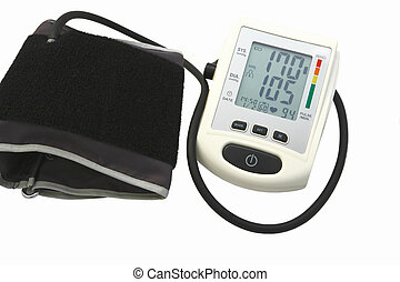 blood pressure device on white background