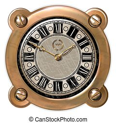 Ancient clock ector - Ancient clock in the style of...
