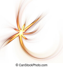 Abstract Solar Flare - An abstract solar flare isolated over...