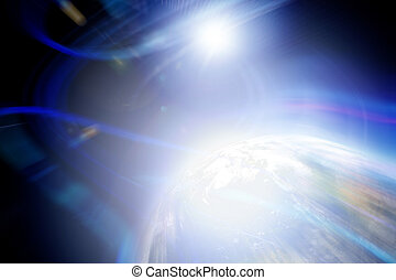 Abstract Planet Backdrop