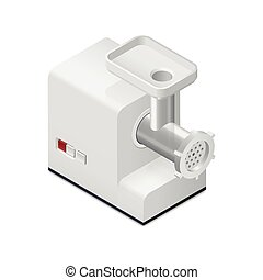 Meat mincer detailed isometric icon vector graphic...