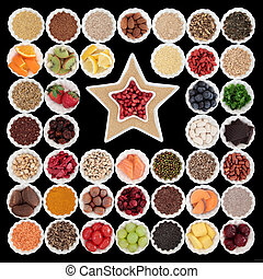 Health Food - Large health and superfood collection in...