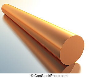 copper - a tube of copper in 3d rendering