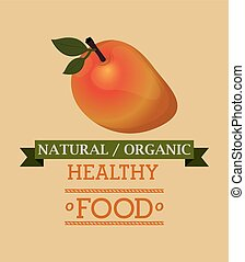 organic and healthy food design, vector illustration eps10...