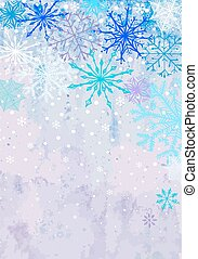 Vertical winter snowstorm background