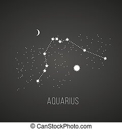 astrology elements aquarius on black - Astrology sign...