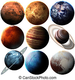 Hight quality isolated solar system planets Elements of this...