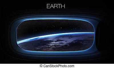 La terre, -, beauté, de, solaire, système, Planète, dans,...