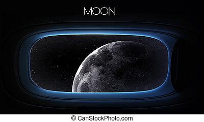 éléments, beauté, meublé, ceci, image, -, système, lune,...