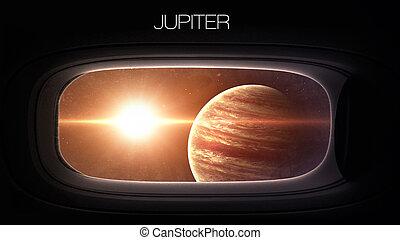 jupiter, -, beauté, de, solaire, système, Planète, dans,...