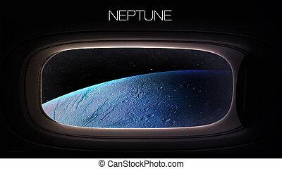 neptune, -, beauté, de, solaire, système, Planète, dans,...