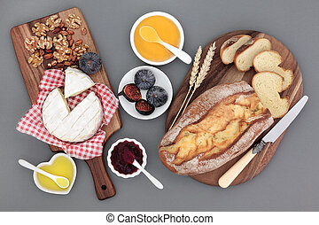 Rustic French Snack Food - Rustic french snack food with...