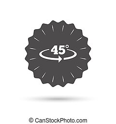 Angle 45 degrees sign icon Geometry math symbol - Vintage...
