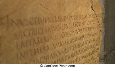 Ancient Language Roman Text - Ancient classic Latin language...