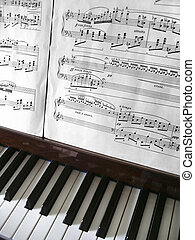 鋼琴, 鑰匙